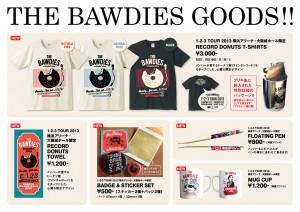 THE BAWDIES 横浜大阪限定グッズを制作